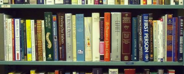 Dollar Books  shelves