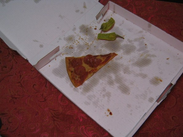 lonely slice of pizza