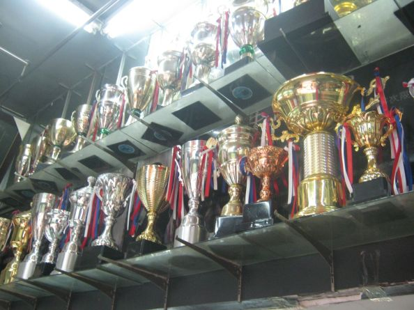 trophy room shelf